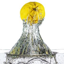 Lemon! by Giovanni De Bellis - Food & Drink Fruits & Vegetables ( high key, water, splash, still life, lemon )