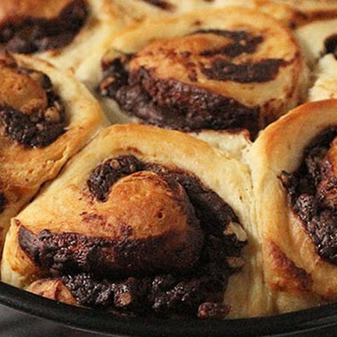 Chocolate Walnut Breakfast Buns