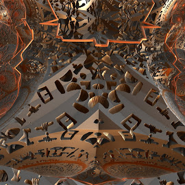 Peculiar Writings by Rick Eskridge - Illustration Abstract & Patterns ( writings, patterns, mb3d, fractal, twisted brush )