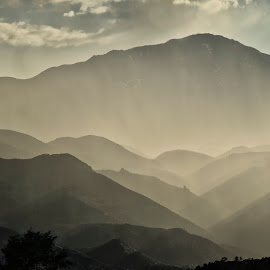 Pikes Peak Receding Ranges by Bruce Feldmeyer - Landscapes Mountains & Hills