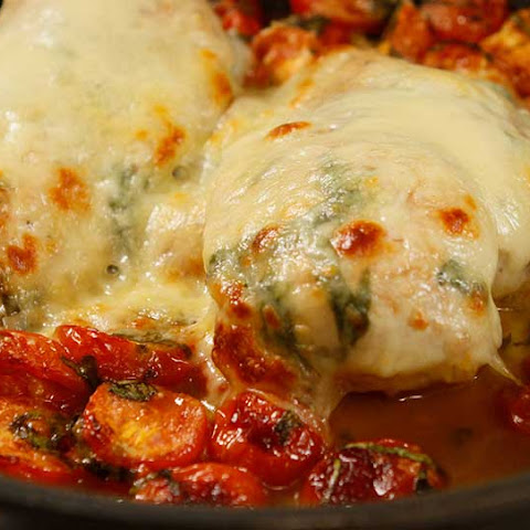 Chicken Breast With Fresh Tomato, Cheese And Basil