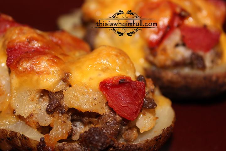Cheeseburger Twice Baked Potatoes Recipe | Yummly