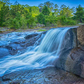 The Waterfall in HDR by Thomas Vasas - Landscapes Waterscapes ( waterfalls, scenics, travel, landscapes )