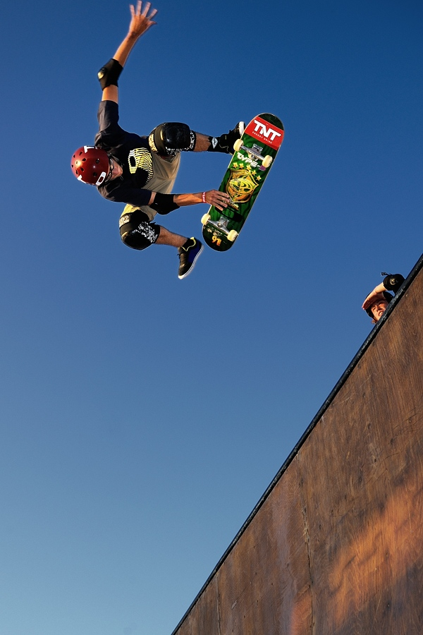 Halfpipe n°1 by Fabio Ponzi - Sports & Fitness Skateboarding ( skate, blu, tournament, rome, world, eyes )