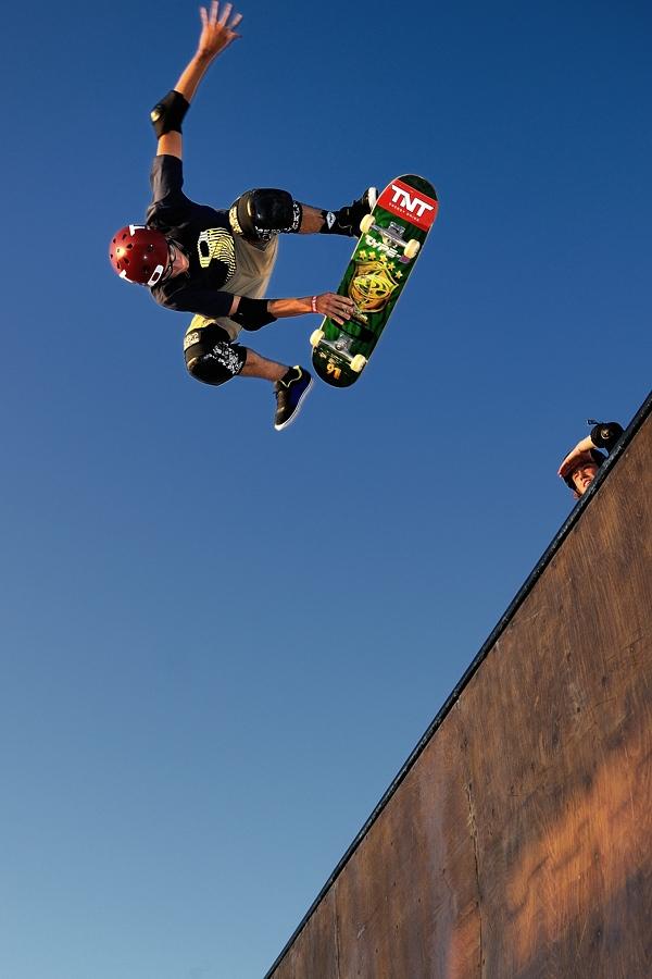 Halfpipe n°1 by Fabio Ponzi - Sports & Fitness Skateboarding ( skate, blu, tournament, rome, world, eyes )