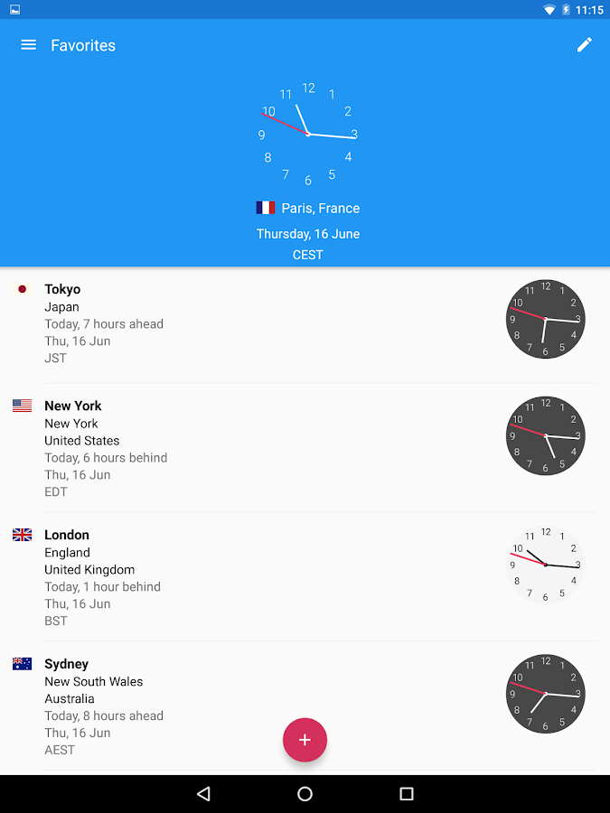 World Clock by timeanddate.com Screenshot 7