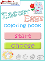 Screenshot of Easter Eggs Coloring Game