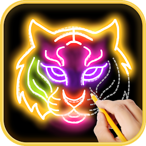 Learn to draw Glow Zoo Icon