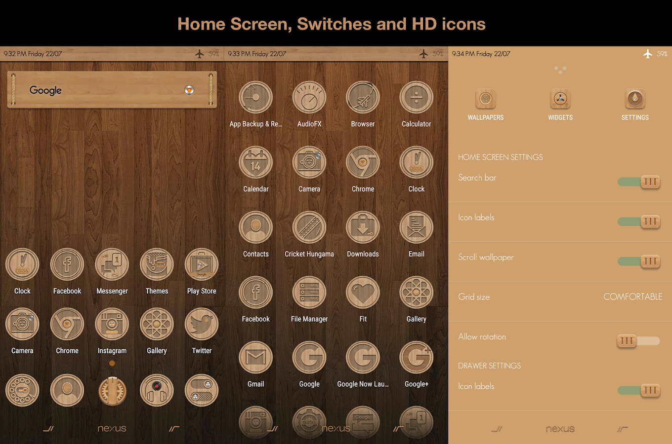 CM13 Wood Theme Screenshot 3
