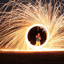 Ring of Fire by LaDawn Park - Abstract Light Painting
