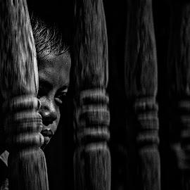 Mahintip by Lay Sulaiman - Babies & Children Children Candids ( monochrome, bw, children, people, portrait )
