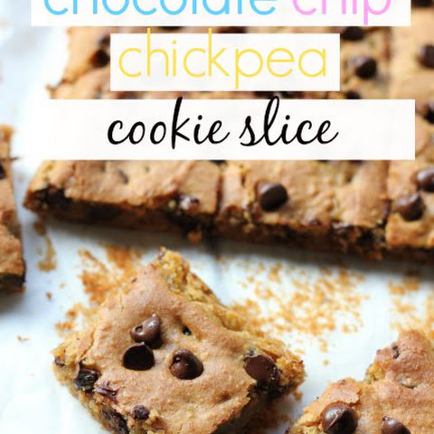 Chocolate Chip Chickpea Cookie Slice