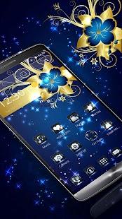 Golden Blue Flower Deluxe gold APK for Bluestacks