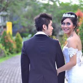 outdoor wedding by Bagus Prasetya - Wedding Ceremony ( #surabayafotografer, #abphotowork, #prewedd, #surabayawedding, #wedding )