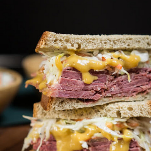 Corned Beef Cabbage Slaw Sandwich