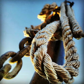 THE rope by Julija Moroza Broberg - Products & Objects Industrial Objects ( macro, sky, rope, chain, perspective, view, close )