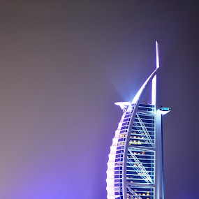 burj al arab by Parasu Raman - Buildings & Architecture Other Exteriors ( with lights, night view, dubai, burj al arab, 7star hotel )