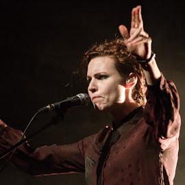 Mina Špiler.Laibach by Iztok Urh - People Musicians & Entertainers