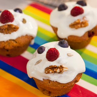 Banana, Strawberry and Sultana Funny Face Muffins