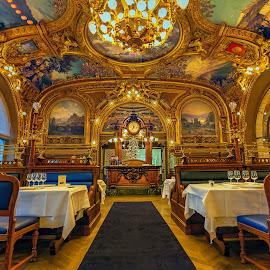 Le Train Bleu by Jim Hamel - Buildings & Architecture Other Interior ( paris, ornate, france, restaurant, le train bleu )