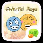(FREE)GOSMS COLOR RAGE STICKER APK for Bluestacks