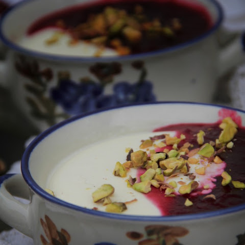 Cranberry & Ginger Ale Panna Cotta