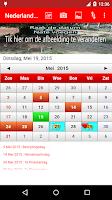 Screenshot of Nederland Kalender 2015