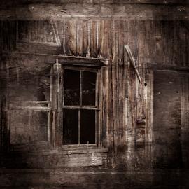 Odd Window 090918 by Anthony Balzarini - Digital Art Things ( #abstract, #abandoned, #farm, #window, #digitalart, #photography, forgottenbuildings )