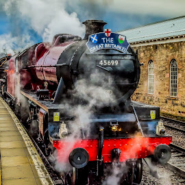 The Great Britain XI steam train . by Gordon Bain - Transportation Trains ( inverness, scotland ., steam engine )