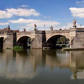 Wurzburg by Oleksii Liebiediev - City,  Street & Park  Vistas ( bavaria, germany, wurzburg, bridge, river, city )