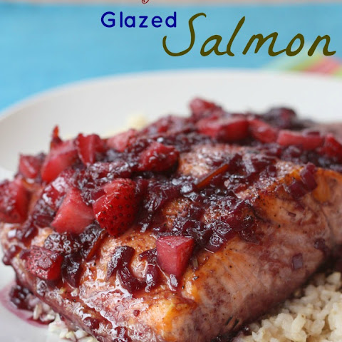 Five-Ingredient Strawberry Red Wine Glazed Salmon