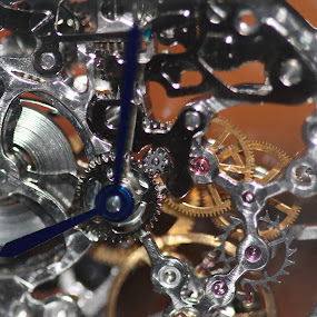 Watch Works by Barb Toews - Abstract Macro ( watch works, macro, wind up watch, watch, jewelery, watch face )