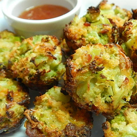 Bacon And Cheese Broccoli Bites