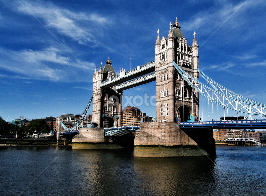 Tower Bridge, London by Peter Greenhalgh - Travel Locations Landmarks ( uk, england, blue sky, london, tower bridge, river thames )