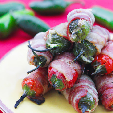 Bacon-Wrapped Pepper-Stuffed Jalapeño Poppers