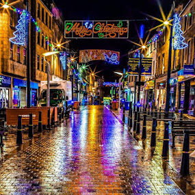 Inverness Streets of gold  by Gordon Bain - City,  Street & Park  Night ( scotland, uk, christmas, inverness )