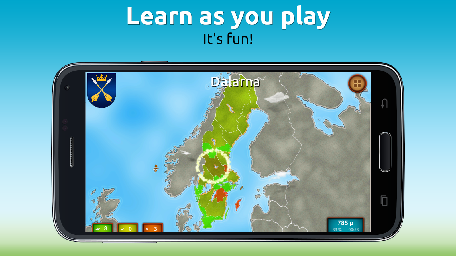 GeoExpert - Sweden Geography Screenshot 1