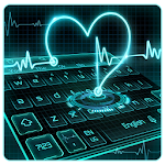 Neon Heart Keyboard Theme Icon