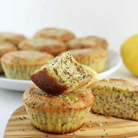 Keto Lemon Poppyseed Muffins