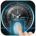 Fingerprint Lock with Analog Clock Prank APK for Bluestacks