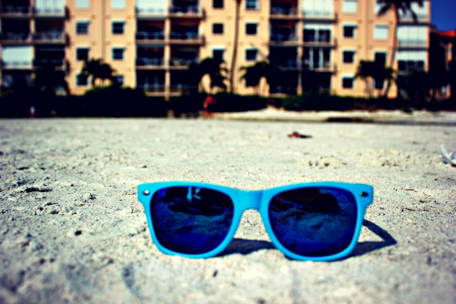 Sunglasses  by Annika Homstad - Instagram & Mobile Android ( hipster, blue, beach, sunglasses )