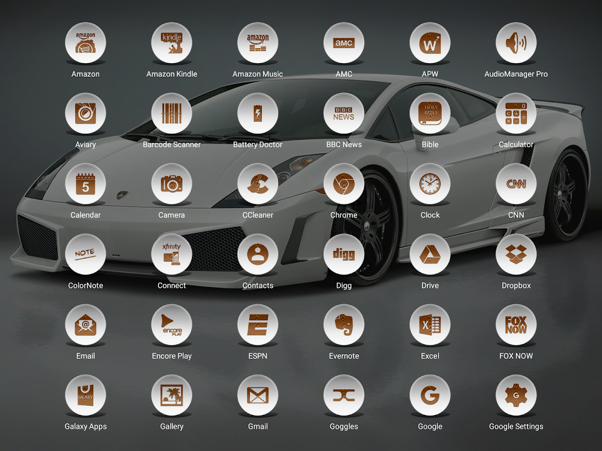 Daf White Wood - Icon Pack Screenshot 13