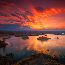 Peace on twilignt by Agus Sudharnoko - Landscapes Sunsets & Sunrises