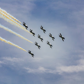 Sky high by Wendy Faber - Transportation Airplanes ( jet, airshow, formation )