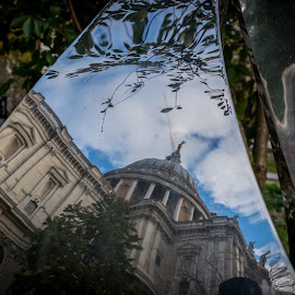 by Steve Bennett - Buildings & Architecture Places of Worship ( reflection, paul's, monument )