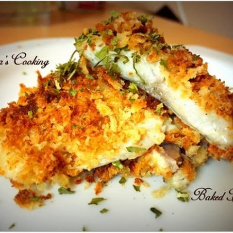 baked fish with savory bread crumbs james baked fish with savory bread ...