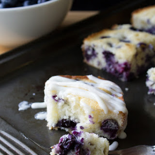Blueberry Buttermilk Cake with Cream Cheese Glaze