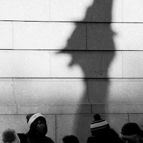 Turkey Shadow by VAM Photography - Public Holidays Thanksgiving ( parade, b&w, shadow, nyc, turkey )