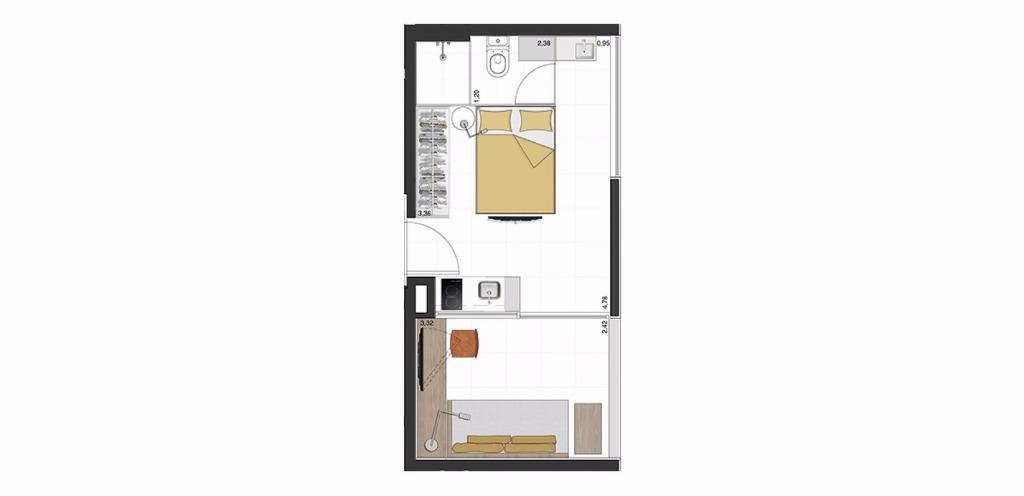 Studio 3a - 28 m²