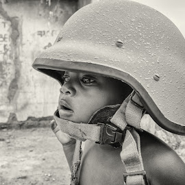 Brave by Niko Knigge - Novices Only Portraits & People ( child, child soldier, brave, soldier, black & white, africa, war,  )